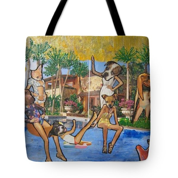 Dog Days Of Summer Tote Bag by Lisa Piper