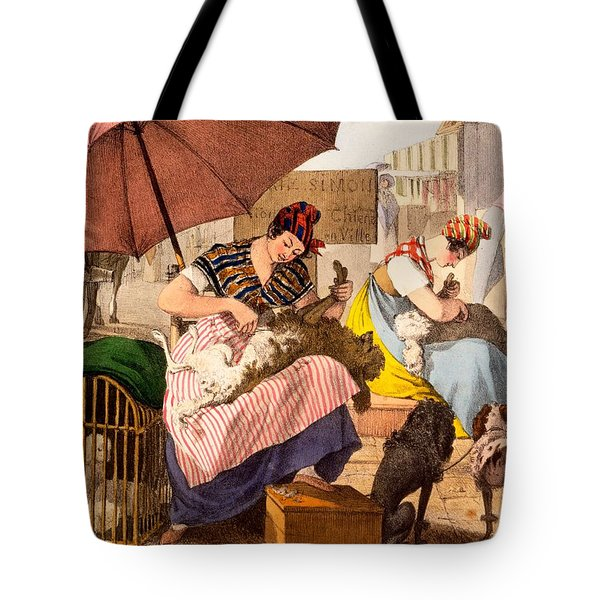 Dog Groomers, 1820 Tote Bag by French School
