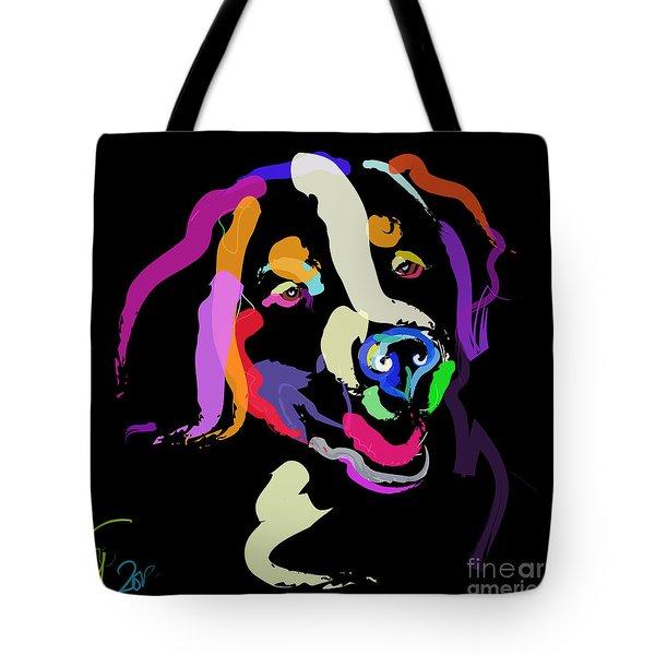Dog Iggy Color Me Bright Tote Bag