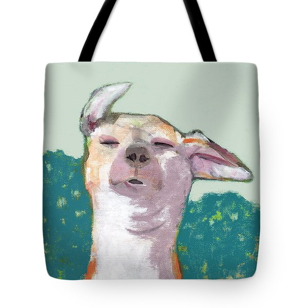Dog In Wind Tote Bag