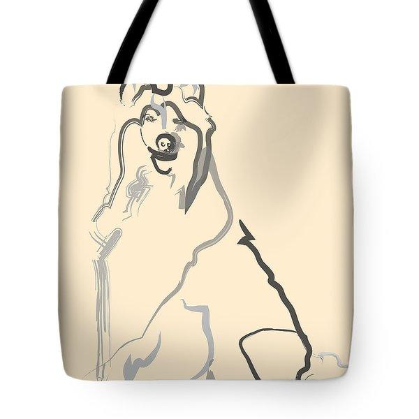 Dog - Lassie Tote Bag by Go Van Kampen