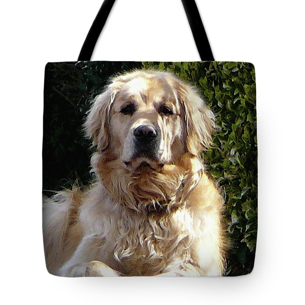 Tote Bag featuring the photograph Dog On Guard by Susan Savad