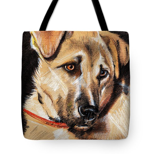 Dog Portrait Drawing Tote Bag