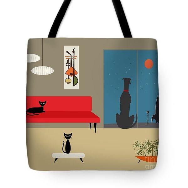 Dog Spies Alien Tote Bag