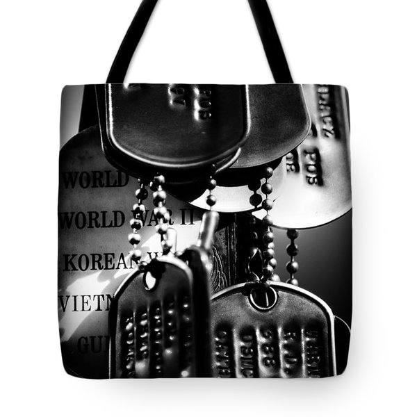Dog Tags From War Tote Bag