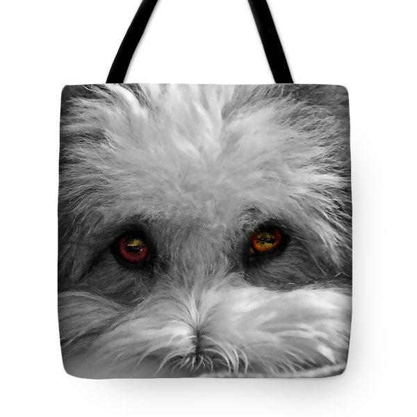 Coton Eyes Tote Bag by Keith Armstrong
