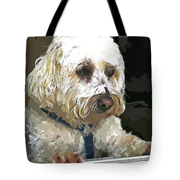 Doggie In The Window Tote Bag by Judy Palkimas