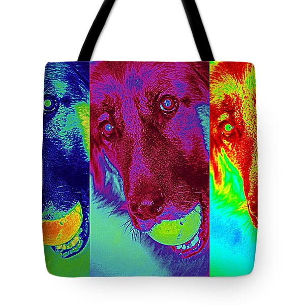 Doggy Doggy Doggy Tote Bag by Cathy Shiflett