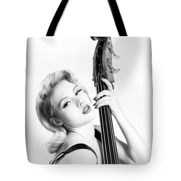 Doghouse Portrait Of Mosh - Double Bass Tote Bag by Gary Heller
