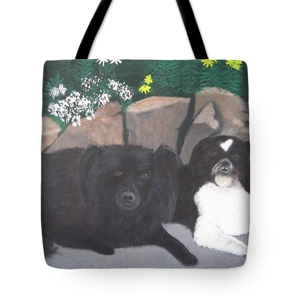 Dogs Daisy And Buttons Tote Bag