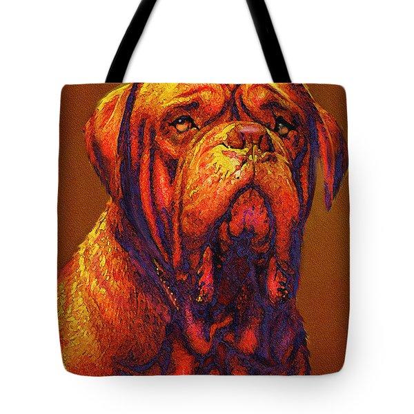 Dogue De Bordeaux Tote Bag by Jane Schnetlage