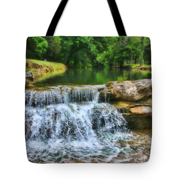 Dogwood Canyon Falls Tote Bag by Elizabeth Winter