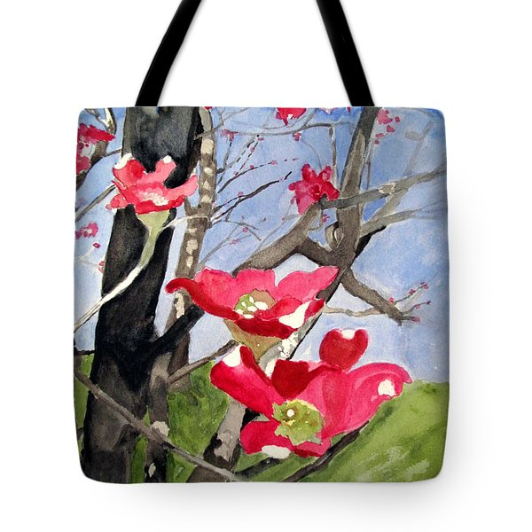 Dogwood Flowers Tote Bag by Sandy McIntire
