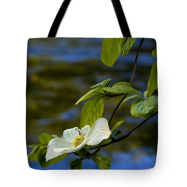 Dogwood On The Merced Tote Bag by Bill Gallagher
