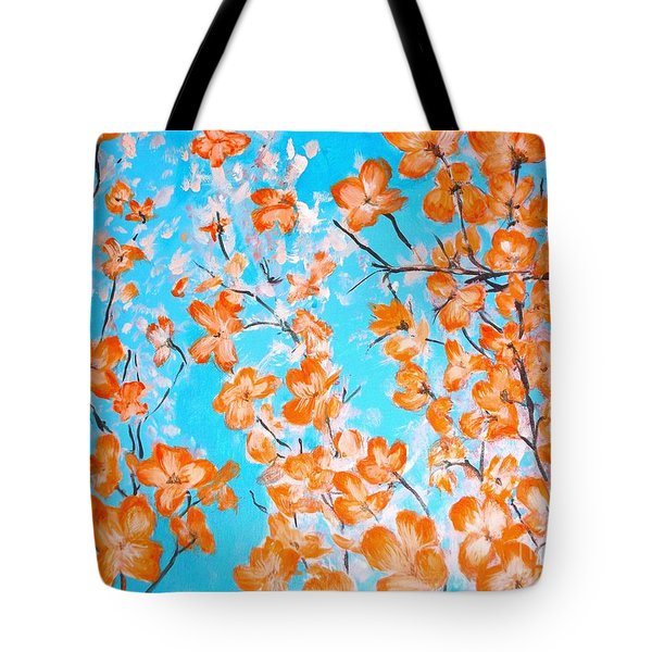 Dogwoods Tote Bag by Donna Dixon