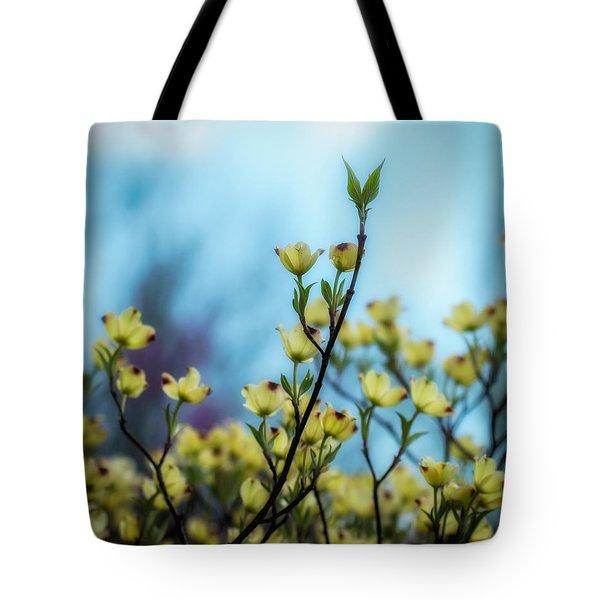 Dogwoods On Blue Sky Tote Bag