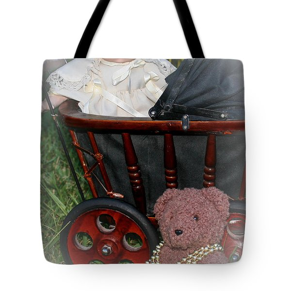 Doll And Teddy Tote Bag