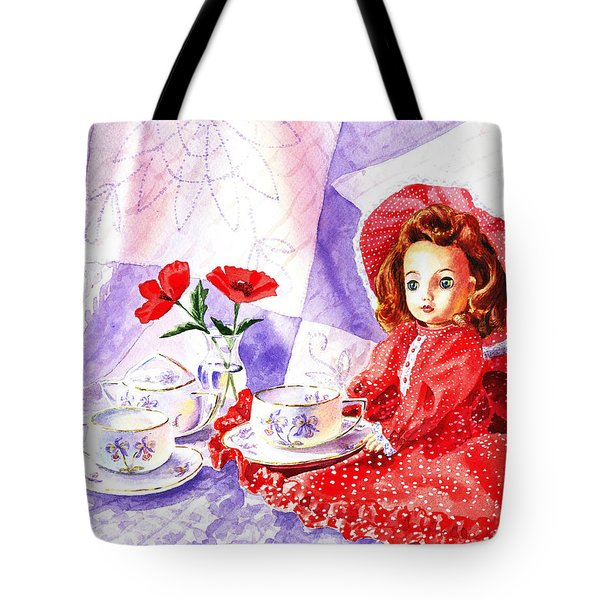 Doll At The Tea Party  Tote Bag