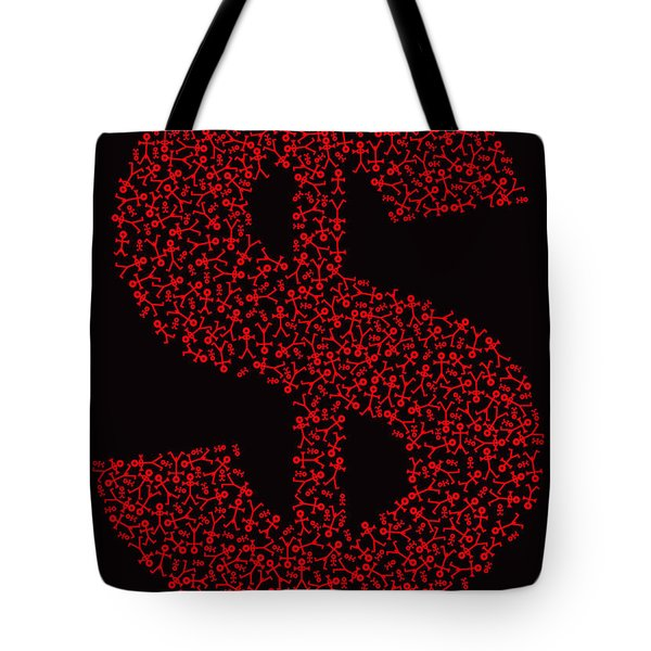 Dollar People Icon Tote Bag by Thisisnotme