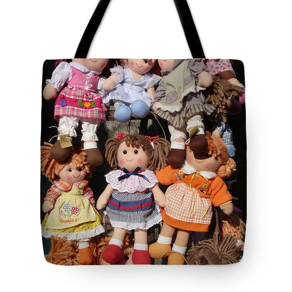 Tote Bag featuring the photograph Dolls by Marcia Socolik