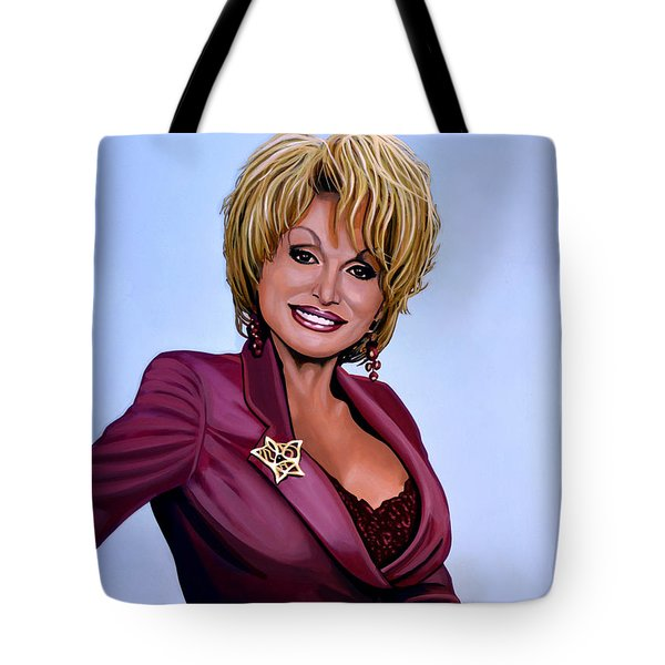 Dolly Parton Tote Bag by Paul Meijering