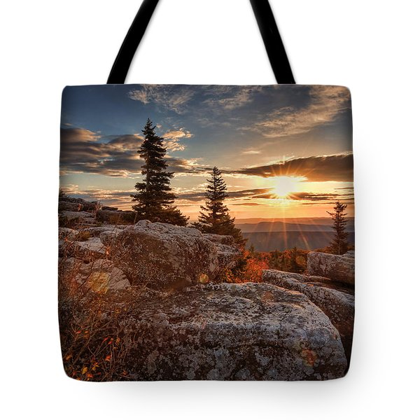Dolly Sods Morning Tote Bag by Jaki Miller