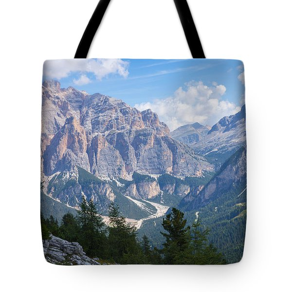 Dolomite Mountain View Tote Bag
