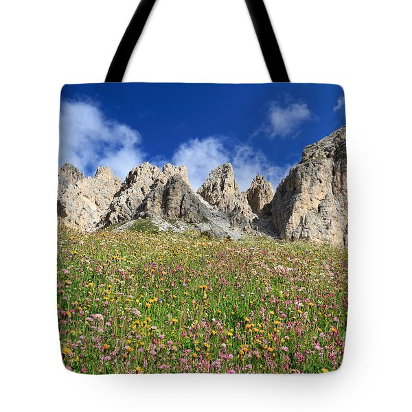 Tote Bag featuring the photograph Dolomiti - Flowered Meadow  by Antonio Scarpi