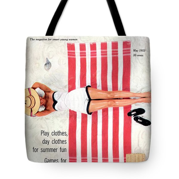 Dolores Hawkins On A Beach Tote Bag