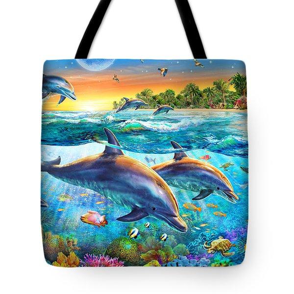 Dolphin Bay Tote Bag