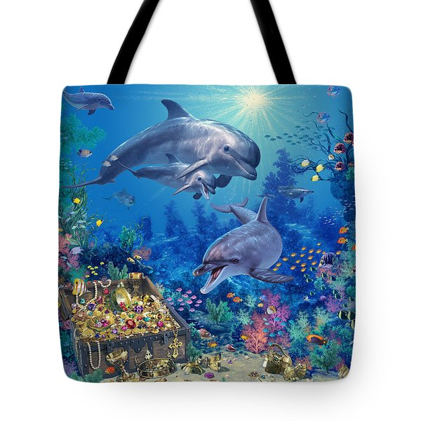 Dolphin Family Variant Tote Bag