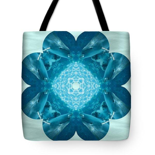 Dolphin Kaleidoscope Tote Bag