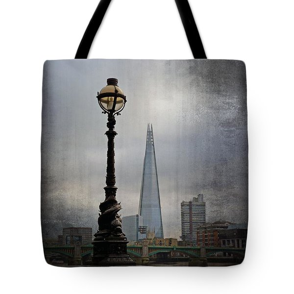 Dolphin Lamp Posts London Tote Bag by Lynn Bolt