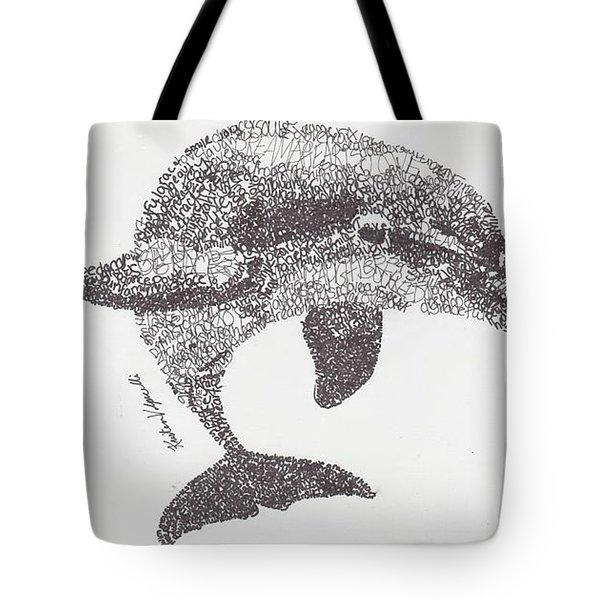 Dolphin Tote Bag by Michael Volpicelli