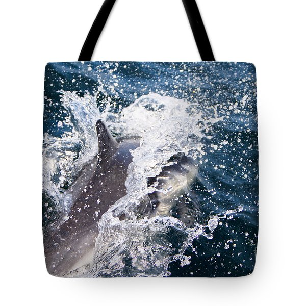 Dolphin Splash Tote Bag