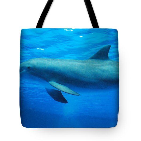 Dolphin Underwater Tote Bag by DejaVu Designs