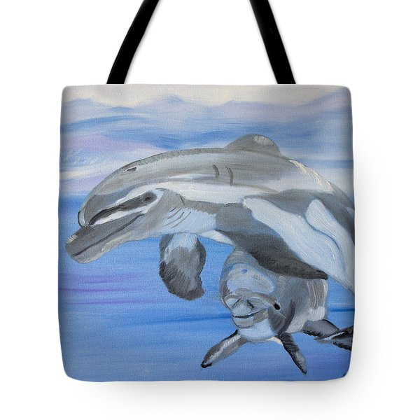 Sublime Dolphins Tote Bag by Meryl Goudey