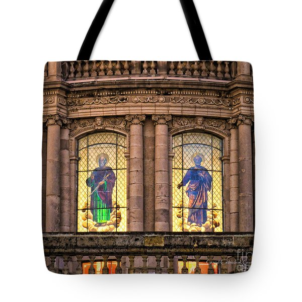Tote Bag featuring the photograph Dome Grand Cathedral Of Guadalajara by David Perry Lawrence