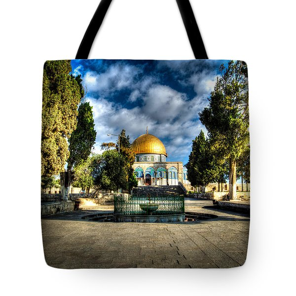 Dome Of The Rock Hdr Tote Bag