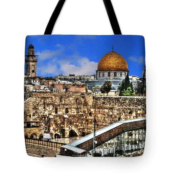 Tote Bag featuring the photograph Dome Of The Rock by Doc Braham