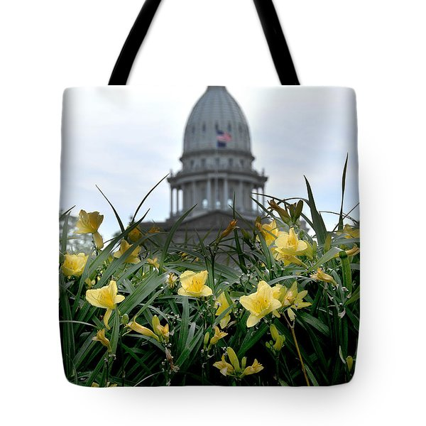 Dome Through The Daffodils Tote Bag