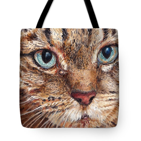 Domestic Tabby Cat Tote Bag