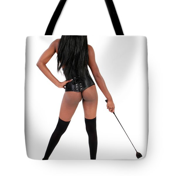 Dominatrix With Riding Crop Tote Bag