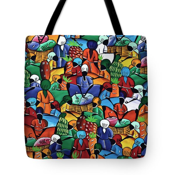 Dominican Women At Market Tote Bag