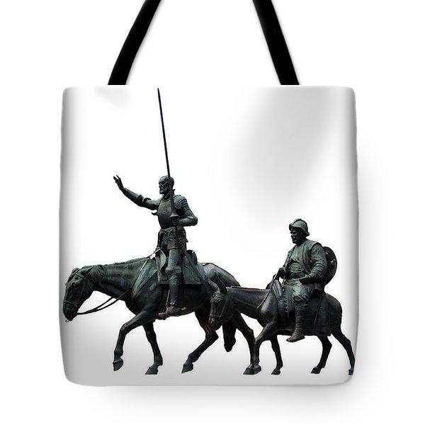 Tote Bag featuring the photograph Don Quixote And Sancho Panza  by Fabrizio Troiani