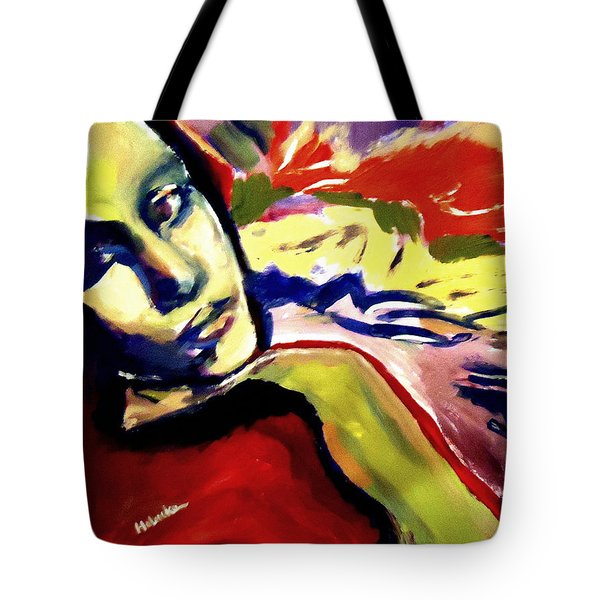 Don T Look Back Tote Bag by Helena Wierzbicki