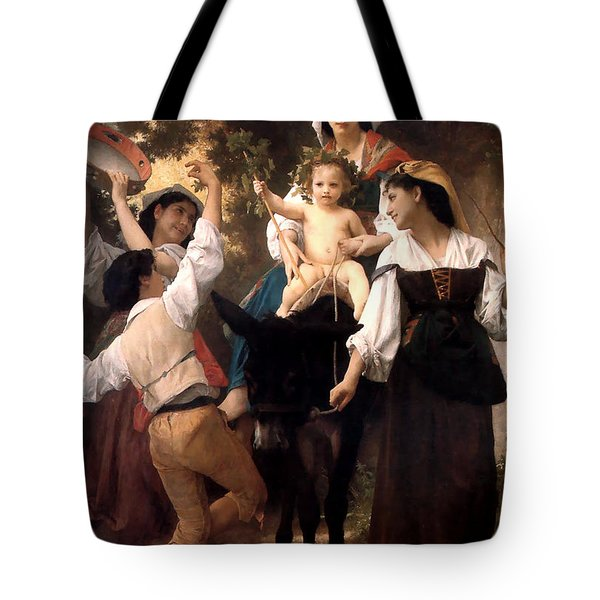 Donkey Ride Tote Bag by William Bouguereau