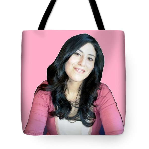 Donna In Pink Tote Bag