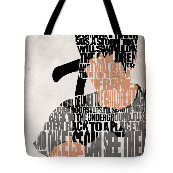 Donnie Darko Minimalist Typography Artwork Tote Bag by Ayse Deniz