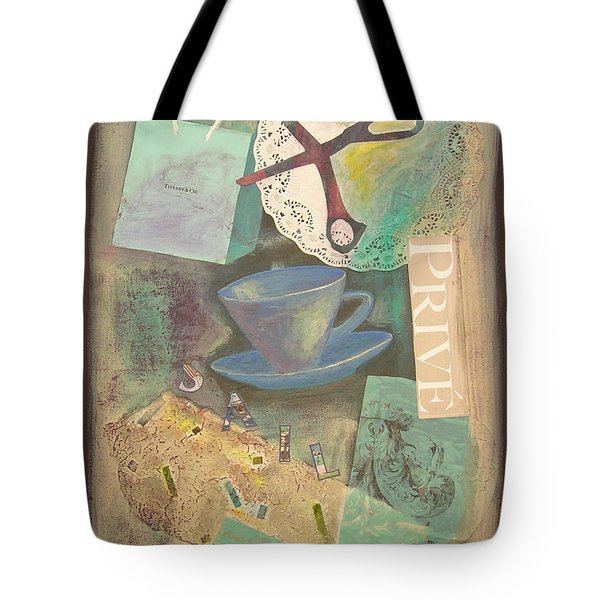 Tote Bag featuring the painting Don't Be Blue by Mini Arora